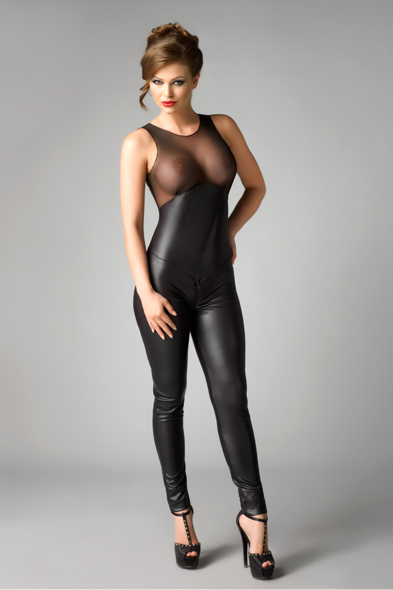 "Комбинезон Me Seduce ""Demi"", wetlook, чёрный, L/XL, арт. 47.282"